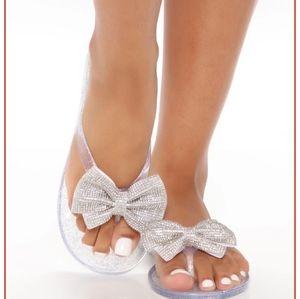 Flat Rhinestone Sandals